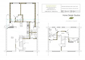 03 PROPOSED GROUND & FIRST FLOOR PLANS